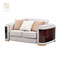 European Style Luxury Popular Lounge Living Room Furniture Modern Leather Sofa Set With Wood Frame