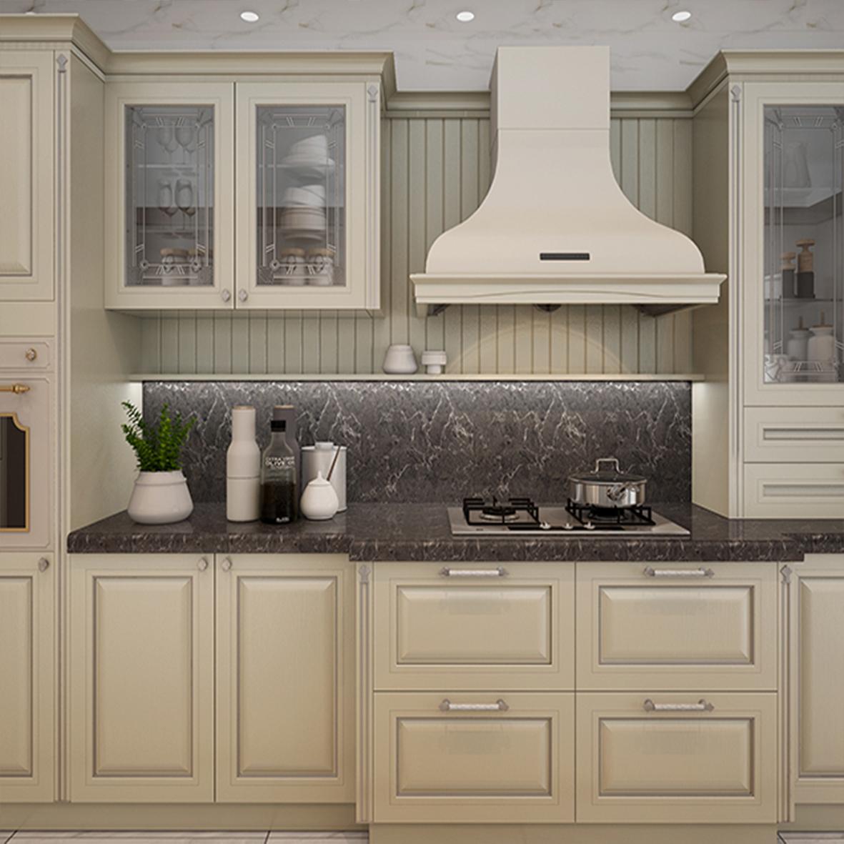 Modern European Design PVC Membrane Kitchen Cabinets New ...