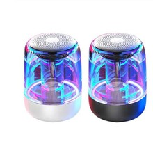 Draagbare Bluetooth 5.0 Speaker Transparant Led Lichtgevende <span class=keywords><strong>Subwoofer</strong></span> Tws C7 Surround Hifi Stereo Cool Audio Tws Draadloze Luidsprekers