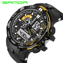 Neue Sanda 737 Mode Armbanduhr Sport Wasserdicht 30M Dive Quarz Digital Analog Led Uhr Luxus Marke Military Herren Uhr