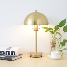 Lazada wish shopee amazon China factory Wholesale Luxury Bedside Gold LED Table Light Desk Lamp Metal Lamp led table