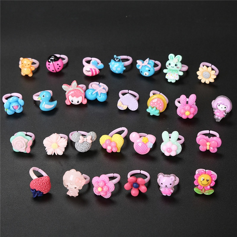 Plastic Toy Smiling Cute Mini Cheap Ring