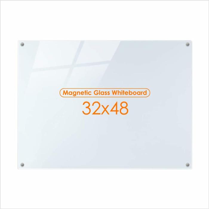Gehard Frameloze Magnetische Whiteboard , Glas Wit Bord Met Marker Lade