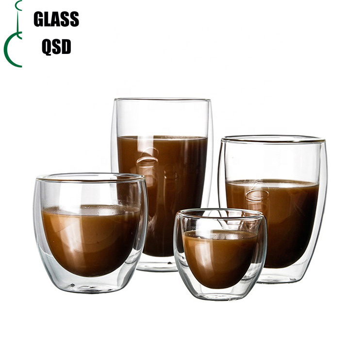 Eco-friendly Double Wall <strong>Glass</strong> Cup With High Borosilicate <strong>Glass</strong>