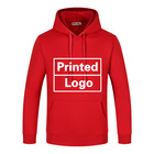 Fleece Hoodie Custom Printed Hoodie Wholesale Plus Velvet Pullover Sweatshirt Printing Fleece Hoodie Custom Logo Embroidery