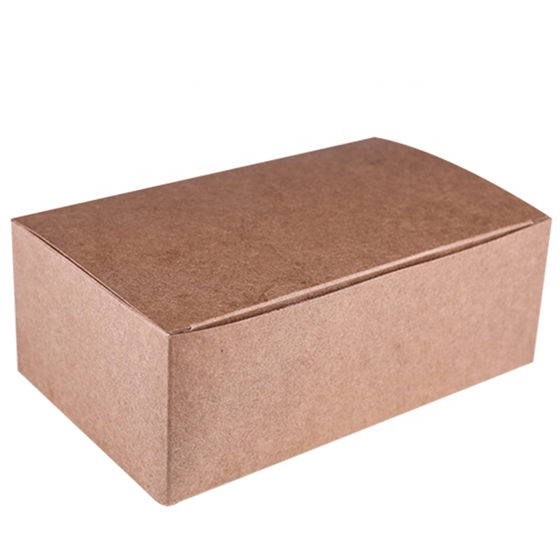 China Factory Biodegradable Food Packaging Take Out For Restaurant Kraft Paper Clam Shell Box