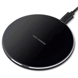 CE FCC ROHS Amazon Ultrathin 10W Fast Wireless Charger qi Certified Aluminum Alloy Smart Phone Charger