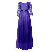 Женское кружевное платье с открытой спиной, длинное вечернее платье с открытой спиной, элегантное платье(Китай)