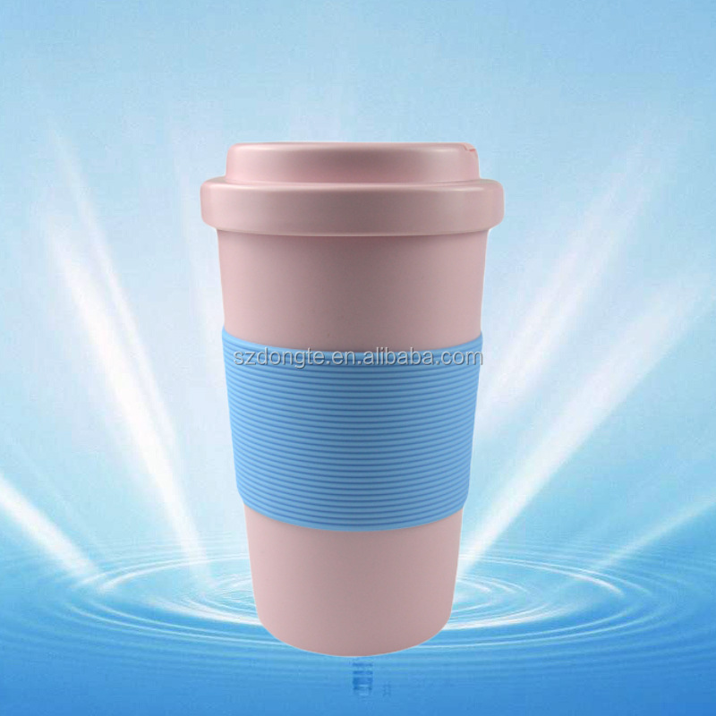 Top Quality Newest PLA Water Cup 400ML Insulated Coffee Mug with Silicone Lid