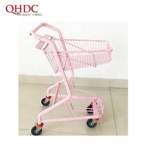 Supermarket trolleys pink shopping cart