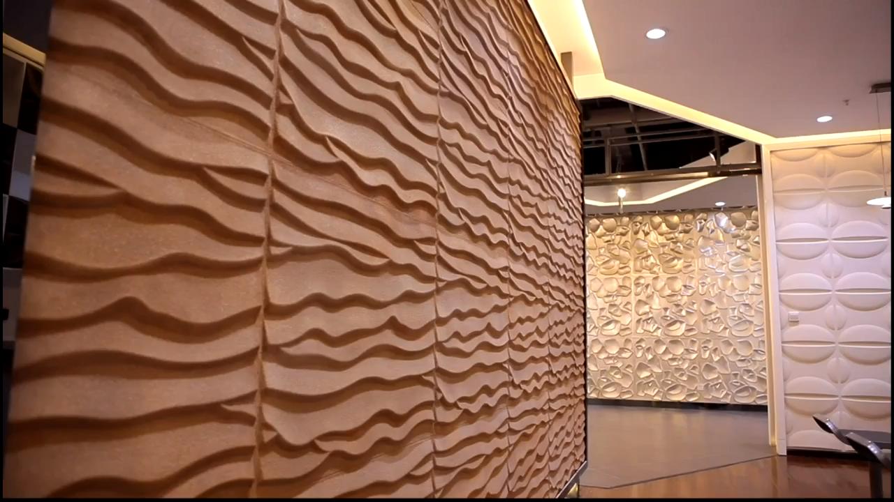 Gran oferta de azulejos de pared 3d modernos de cerámica con diseño de madera