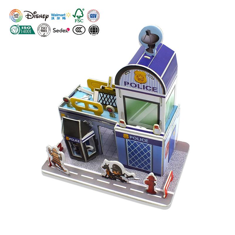 Offre Spéciale Nurschool Jeux Matériaux De Sécurité Construction Jouets Éducatifs En Papier Coloré 3D Puzzle Pour Les Enfants