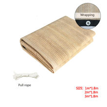 8 years 1mx1.8m Sand color Beige color tape yarn 180GSM 100% Virgin HDPE add 5% UV sun Shade sail net for canopy and carport