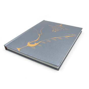 high quality Matt Gold foil hot stamping title hardcover photo book printing with book mark ribbon