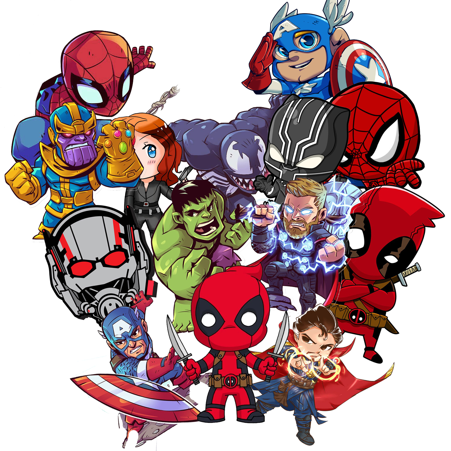 Laptop Stickers voor Superheros [100 pcs] Cool Vinyl Cartoon Comics Sticker voor Bagage Helm Skateboard Decals voor Kids jongens Tiener