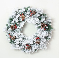 wholesale Artificial Green Holiday decorations wholesale pvc tree christmas wreath and garland supplier