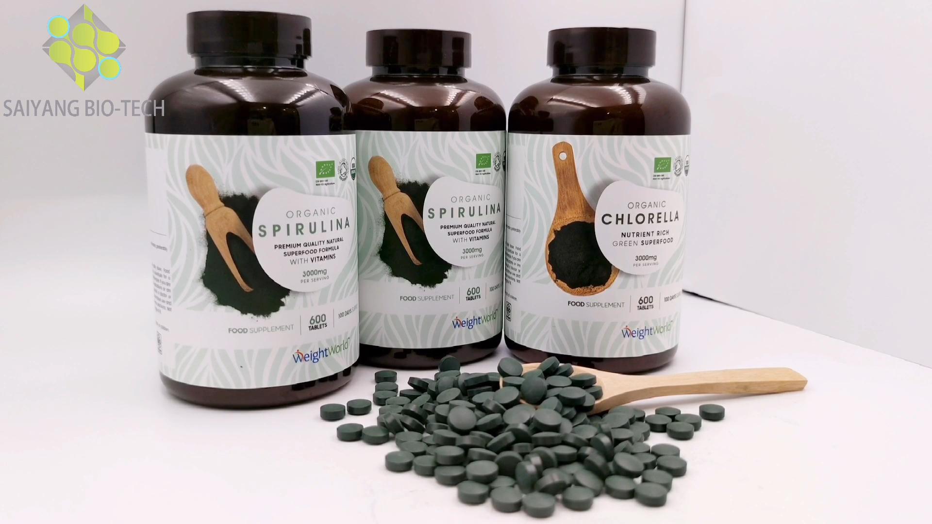 Precio de Amazon de algas en polvo 100% puro Natural de la UE nos orgánico certificado sexo espirulina en polvo para la venta