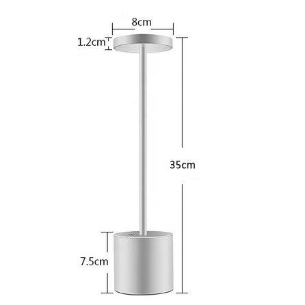 Amazon hot selling Aluminium LED dining table lamp KTV bar restaurant cordless lamp light with rechargeable battery built in