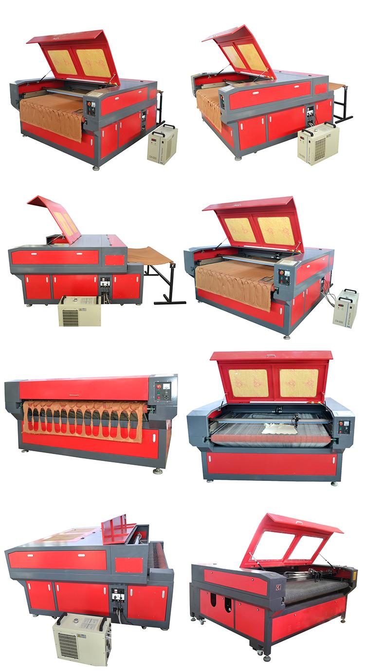 Professional ความเร็วสูง CNC ให้อาหารผ้าเลเซอร์ตัดเครื่อง