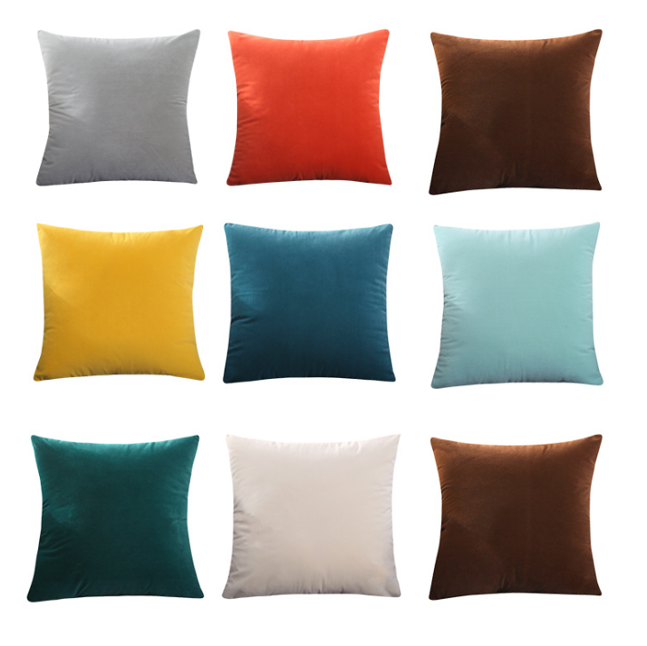 Solid Color Cushion Cover Simple Candy Color Throw Pillow Case For Sofa Solid Home Decorative Pillowcase Car Seat Cushion Cover