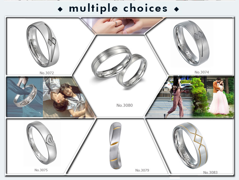 wholesale sterns wedding rings catalogue fashion stainless steel wedding rings for couple