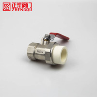ZHENGQU male thread brass forged ball valve hydraulic hoses ppr and connections cylinder