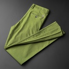 Green latest trousers design for men Thin summer slacks Motion pants Ice silk brand name trousers men c