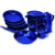 Custom 5pcs high quality germany style enamel cookware pot set for promotional