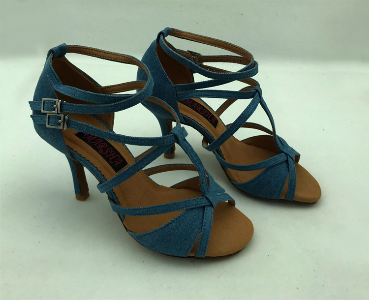 Jeans Latin dance shoes salsa shoes tango shoes comfortable and fashional 6232J