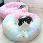 Wholesale Custom Colorful Warm Soft Plush Comfortable Pet Dog Bed for Sleeping Winter Pet Supplies