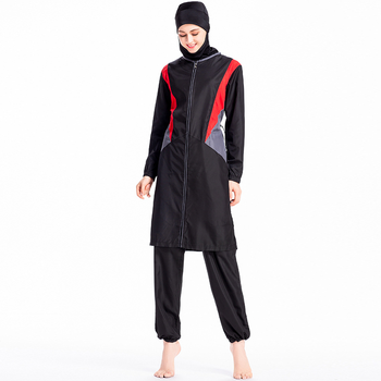 islamic women plus size splice Loose tops pants 2 piece sportswear suits muslim women sportswear