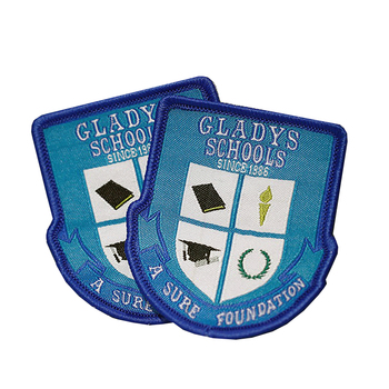 Custom Eco-Friendly Woven Logo Badge For School Uniform