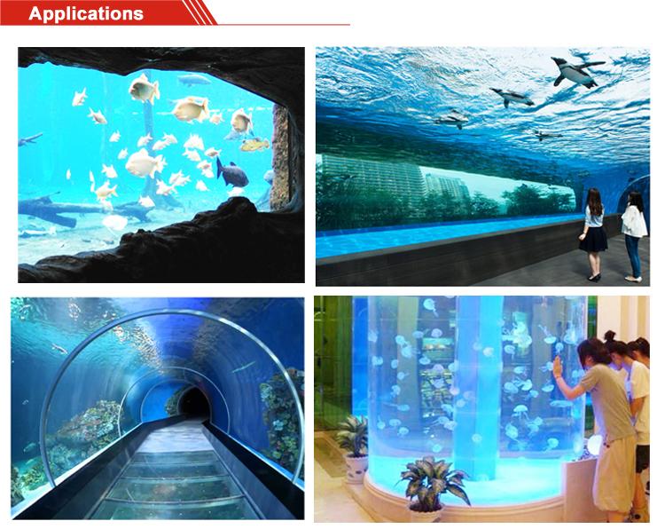 Extérieur de réservoir de poissons d'aquarium acrylique