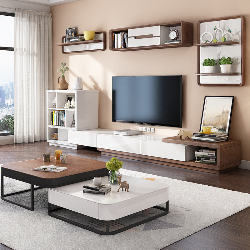 Metal Furniture Sets Wooden TV Stand