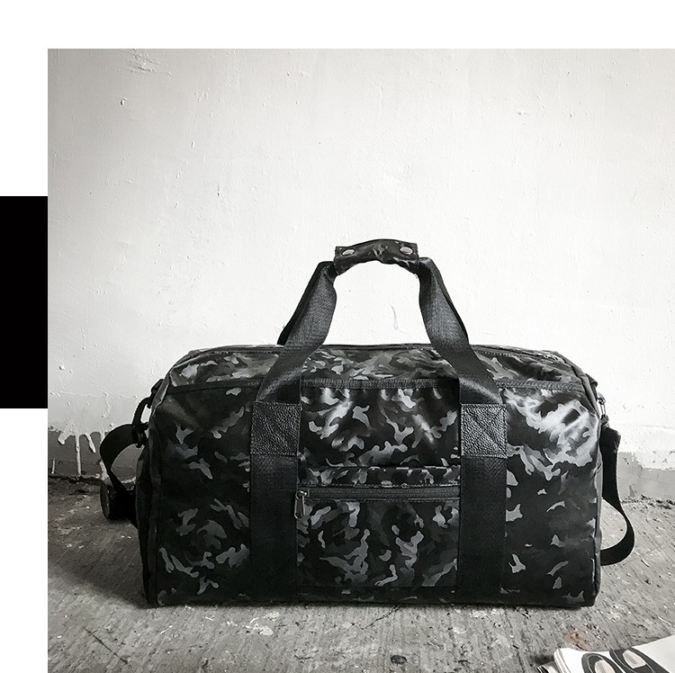 wholesale With Shoe Compartment Pu Leather Camo Waterproof Duffle Travel Bag