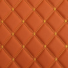 Abrasion-resistant Embroidery Quilted Diamond Stitching Leather For Sofa Making E046-2