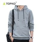 TOPKO Custom-Made Anti-Wrinkle Plain Unisex Hoodies