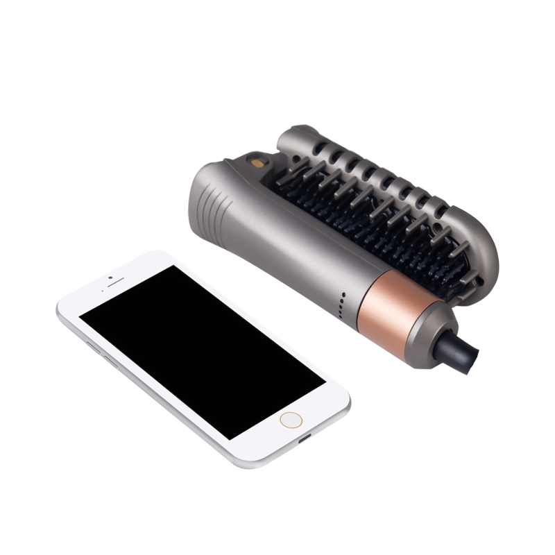 휴대용 접이식 이온 전기 머리 straightener 브러시 안티 Scald 2에서 1 수염 브러쉬