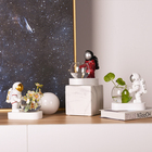 Table Table Decors Artificial Crafts Astronaut Modern Table Home Decor LED Light Planter Resin For Sale