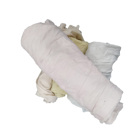 light color knit wiping 85% cotton rags in bulk bales loading for exporting offer customized packing