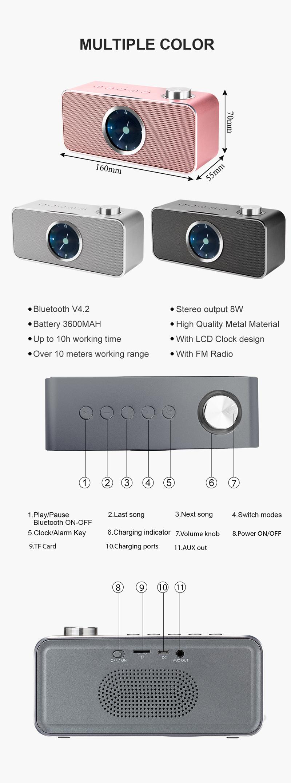 Outdoor Active Professional Mini Wireless Portable Speakers Bluetooth Speaker