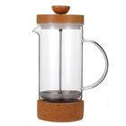 LFGB FDA Heat Resisting Borosilicate glass 3 layer filter stainless steel french press coffee maker