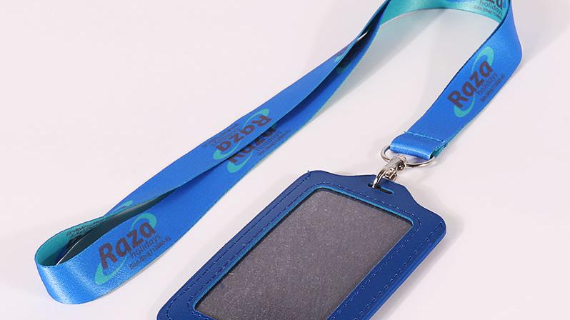 Заказной полиэфирный Теплообменный Печатный атласный талреп ID визитница с логотипом