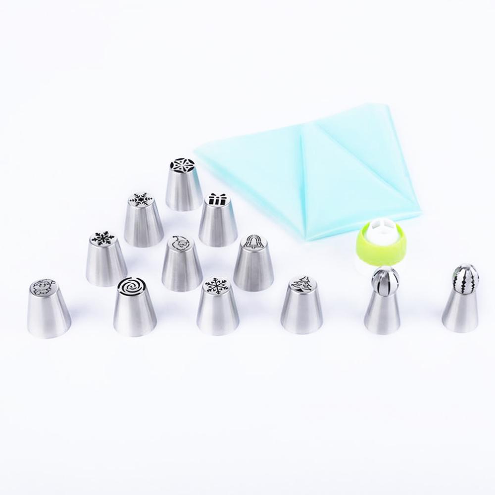ノベルティデザインベーキングケーキデコレーションクリームインジェクションステンレス鋼ペストリーノズルセット