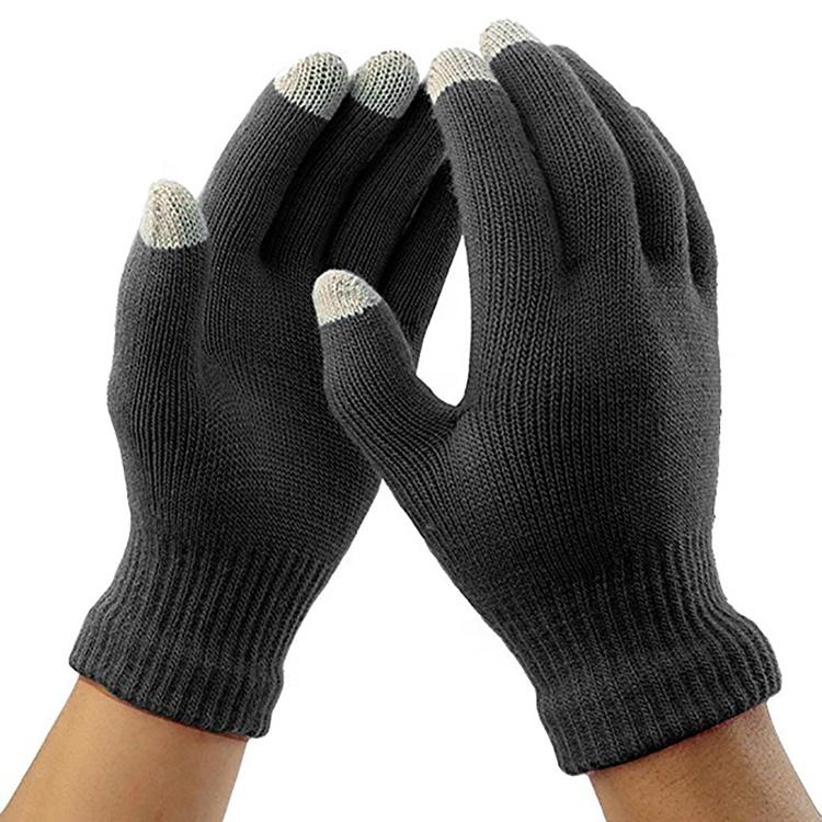 2020 Sihir Musim Dingin Sarung Tangan Layar Sentuh Wanita Pria Hangat Stretch Rajutan Wol Sarung Tangan Sarung Tangan