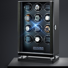 New Design Japanese Motor Safety Maximum Automatic Watch Winder 12 rotors automatic watch winder LED Light LCD Display