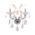 New 2 Lights Crystal Led Fixtures Maria Theresa Polished Chrome Baccarat Glass Wall Sconce