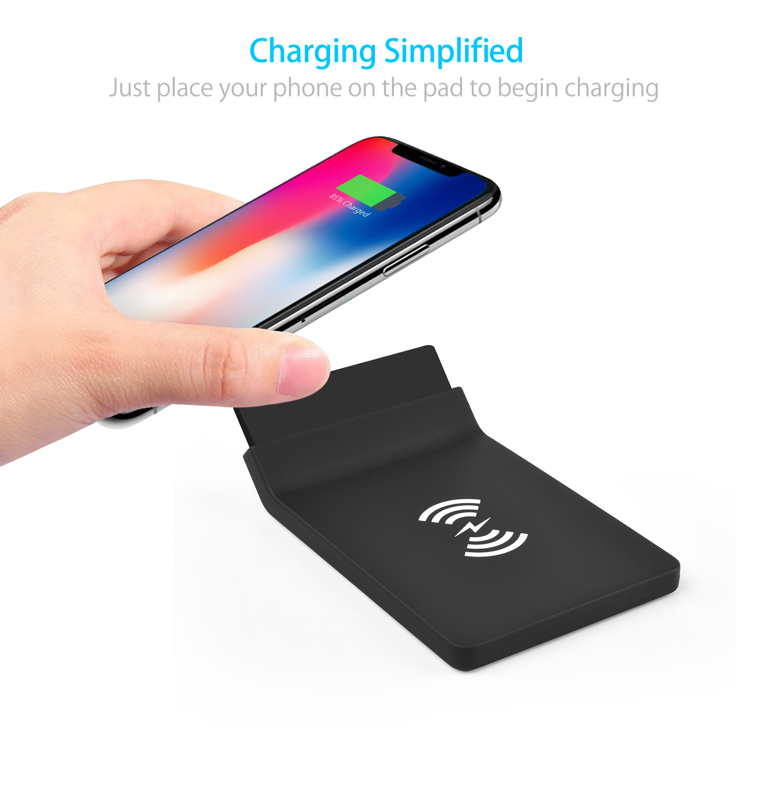 Promotion Glowing Logo Led light up 5W/7.5W/10W Mobile Phone Square Qi Standard Wireless Charger