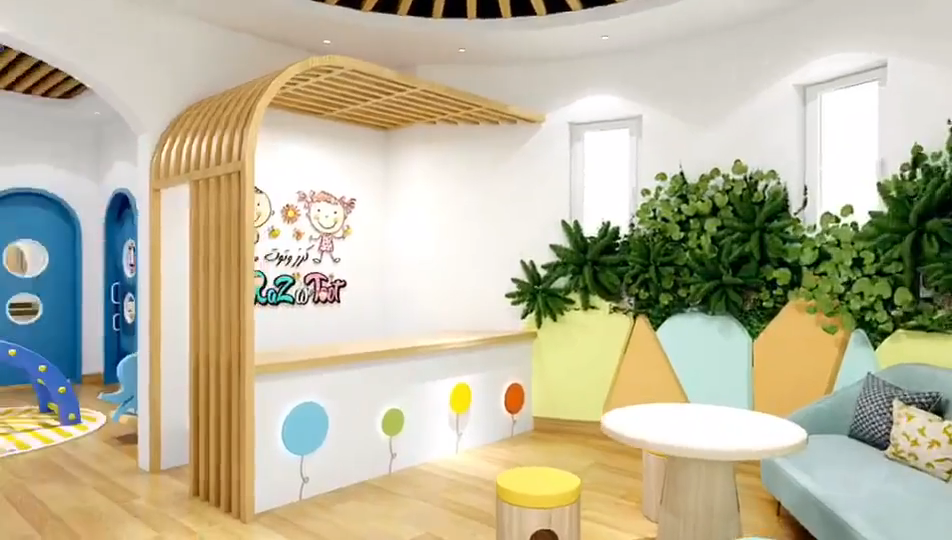 Kids club activity room play room for nursery daycare center kids play center