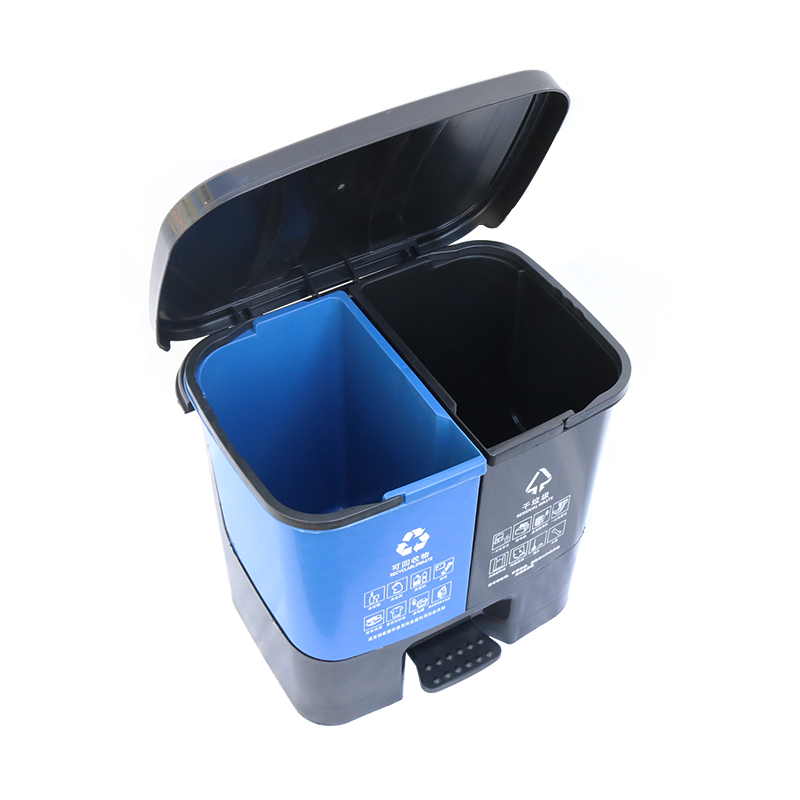 Outdoor Garden Park Public plastic Square Recycling  Trash Can